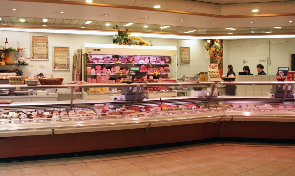 De winkel van Slagerij Hugon Vonken uit Maarheeze